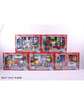 Набор «Доктор» медицинские инструменты, 22 детали, очки, ножницы, шприц, в коробке 25,5х36,5х5,5 см