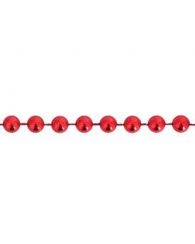 Бусы новогодние 4мм*3м,красные (971986)