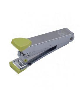Степлер металлический до 12 л., скоба № 10, светло - зеленый