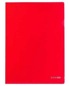 Папка - уголок А4 Economix, фактура «глянец» 180 мкм, красная.