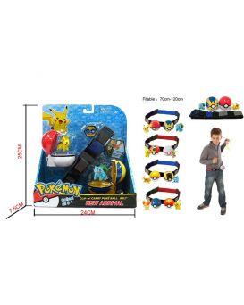 Запускалка «Pokemon» 2 покебола с героями на поясе, в ассортименте, в коробке 24х25х7,5 см