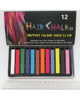 Мел квадратный для волос, набор 12 цветов, 6,5 х 1 х 1 см.