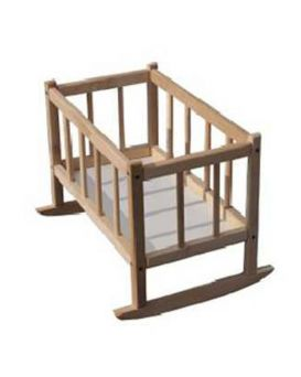 Кроватка для кукол 25х45х35 см, бук, ТМ Дерево