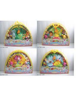 Коврик для младенца с погремушками на дуге, в сумке 81х56х6 см