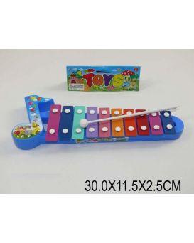 Ксилофон «Нотный стан» в пакете 30х11,5х2,5 см