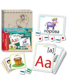 Дидактическая игра с магнитами Vlady Toys Буквы и звуки (укр)