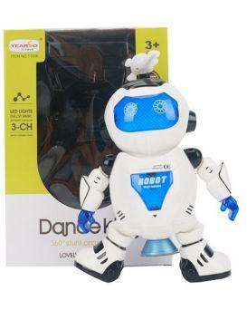 Робот на батарейке, танцует, свет, звук, в коробке 18,5х26,5х10 см