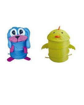 Корзина для игрушек в ассортименте 45*80 см, в сумке со змейкой 50см