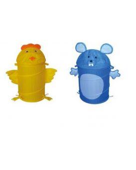 Корзина для игрушек «Животные» 45х80 см, в ассортименте, в сумке со змейкой 50 см