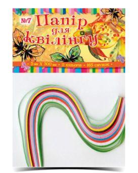 Бумага для квиллинга №07, 11 цветов, толщина 11,5 мм, длина 300 мм