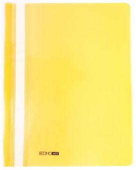 Папка - скоросшиватель с прозрачным верхом А4 без перфорации, желтая.