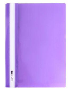 Папка - скоросшиватель с прозрачным верхом А4 без перфорации, фиолетовая.