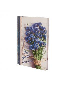 Ежедневник недатированный A5 «ROMANTIC» 288 стр., синий