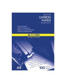 Бумага копировальная 210 х 297 мм, 100 л., синяя.