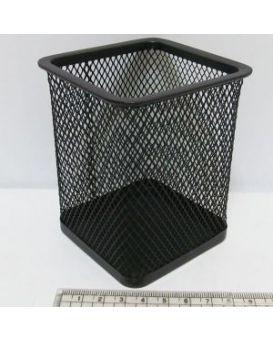 DSCN3545_BK Подставка д/ручек-металл. 8*8*9,5 см