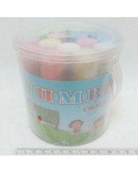 Мел круглый, цветной, 15 шт. «Jumbo» в ведерке 10,5х2,5х2,2 см