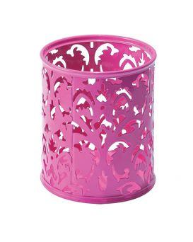 Подставка для ручек «Barocco» 83 х 100 мм, металлическая, розовая.
