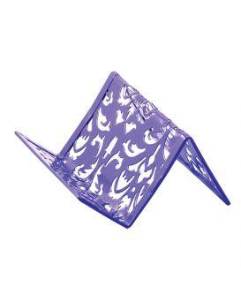 Подставка для визиток металлическая 100х97х47 мм «Barocco» фиолетовая.