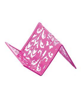 Подставка для визиток металлическая 100х97х47 мм «Barocco» розовая