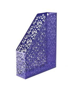Лоток вертикальный, металлический на 1 отделение «Barocco» 338 х 248 х 70 мм, фиолетовый.