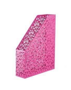 Лоток вертикальный, металлический на 1 отделение «Barocco» 338 х 248 х 70 мм, розовый.