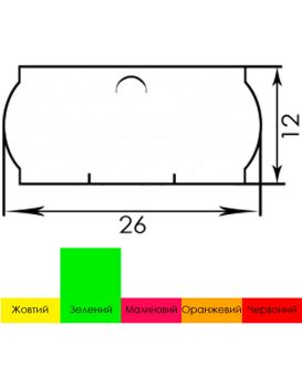 Ценник 6 м. А12 26х12 зеленый 1/6/504