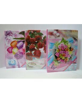 Фотоальбом 17,5 х 23 см, 200 см, фото 10 х 15 см с глитетром «Цветы»