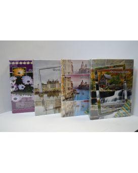 Фотоальбом 23 х 17,5 см, 200 см, фото 10 х 15 см «Пейзаж» рисованые карманы.