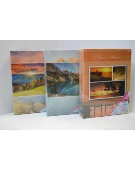 Фотоальбом 23 х 17,5 см, 200 фото с фольгой, 10 х 15 см «Пейзаж» пластиковые карманы.
