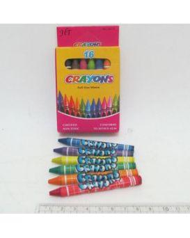 Карандаши восковые 16 цветов «Crayons»