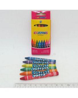 Карандаши восковые 6 цветов «Crayons» D-4236.