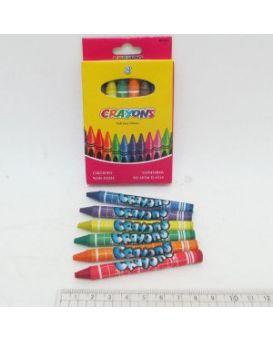 8496-8 Мелки восковые Crayons, набор 8 цв.
