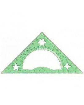 Треугольник 15см 45*90*45,с тр,прозр.пластик,гравиров.6 цветов