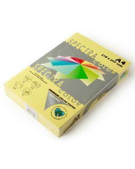 Бумага цветная А4 500 листов, 75 гр/м2, пастель - желтый «Yellow 160» SPECTRA COLOR