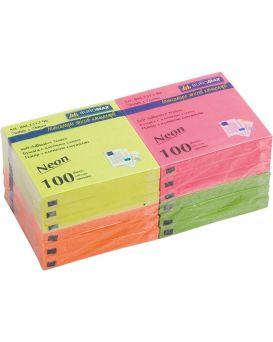 Блок бумаги для заметок 76 х 76 мм, 100 л., неон, в ассортименте