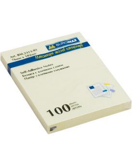 Блок бумаги для заметок 76 х 105 мм, 100 л., желтый