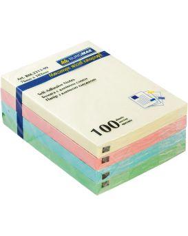 Блок бумаги для заметок 76 х 102 мм, 100 л., в ассортименте