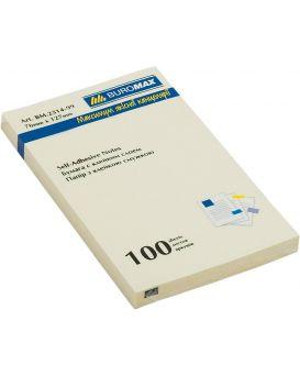 Блок бумаги для заметок 76 х 127 мм, 100 л., желтый