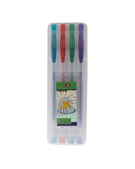 Набор гелевых ручек 4 цвета с блестками «Glitter» ТМ Zibi