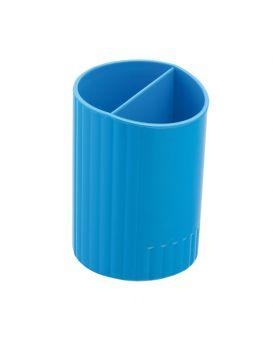 /Стакан для ручек круглый на два отделения, синий