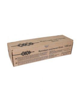 Мел белый, 100 шт. в картонной коробке