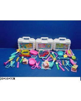 Набор «Доктор» медицинские инструменты, 15 деталей, стетоскоп, в ассортименте, в чемодане 20х16х7 см
