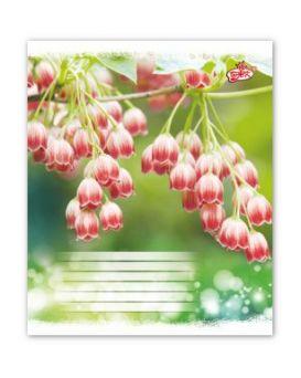 Тетрадь 12 л., косая линейка Brisk «Цветок»