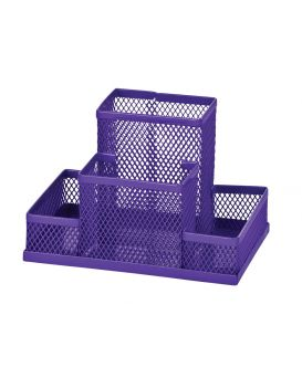 Органайзер настольный металлический 100х150х90 мм, фиолетовый.
