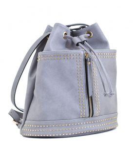 Сумка - рюкзак, серая , 29 х 25 х 15 см