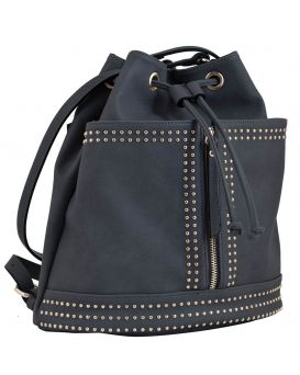 Сумка - рюкзак, темно синяя, 30 х 27 х 15.5 см