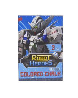 Мел квадратный, цветной 3 шт. «Robot»