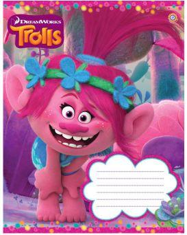 Тетрадь 12 л., А5, в косую линию, ЗУ «Trolls color -17»