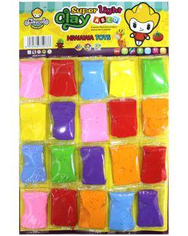 Набор для лепки, пластилин, 7 цветов 20 шт. на планшетке, Имп