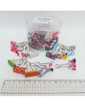 Биндеры для бумаги 25 мм «Цветы»